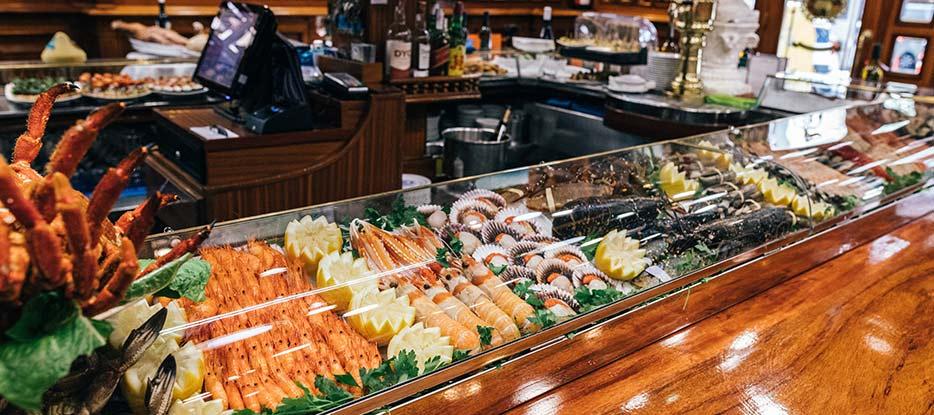 platos de pescados y mariscos